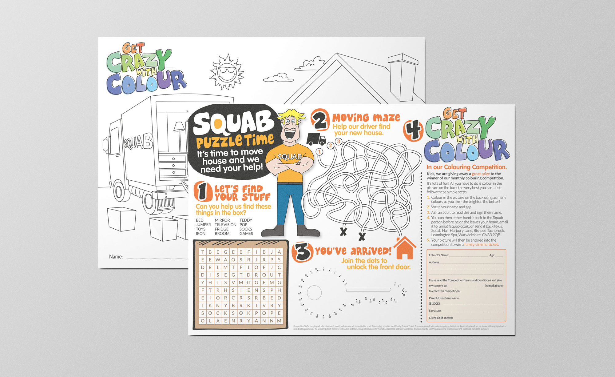 Image depicting graphic design work for Squab